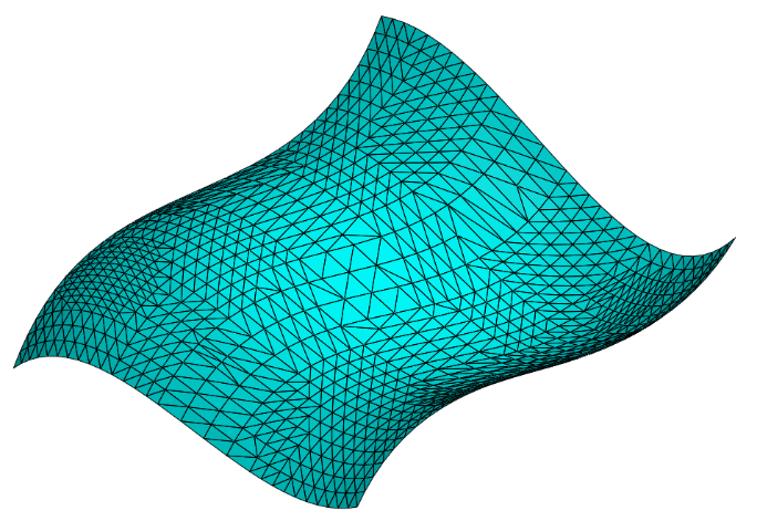 Figure 2. Facet model of a surface showing facets.